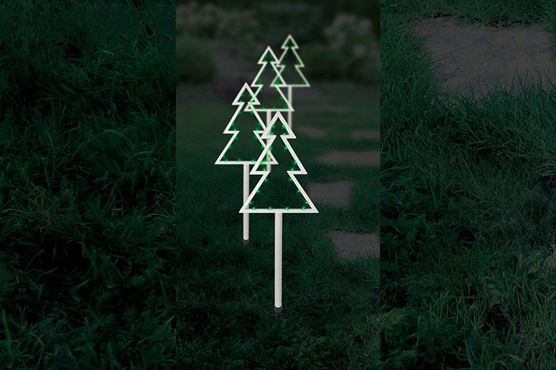 4pk Green LED Tree Stakes Lights