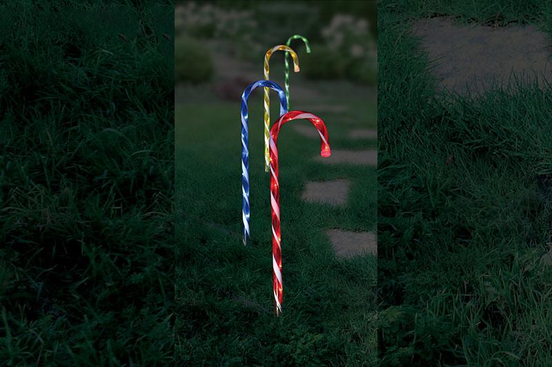 4pk Multi Colour  LED Candle Stakes Light