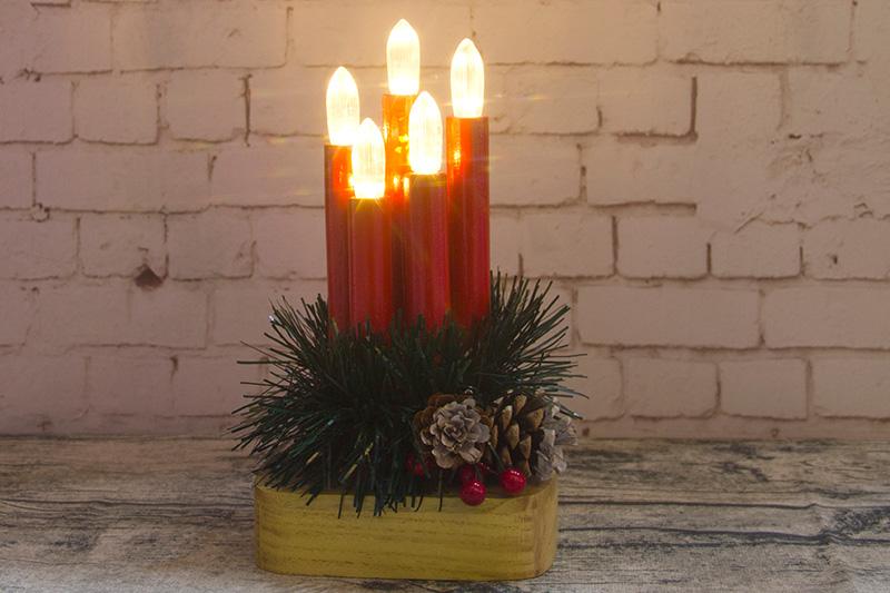 5PCS Wood Candle Light