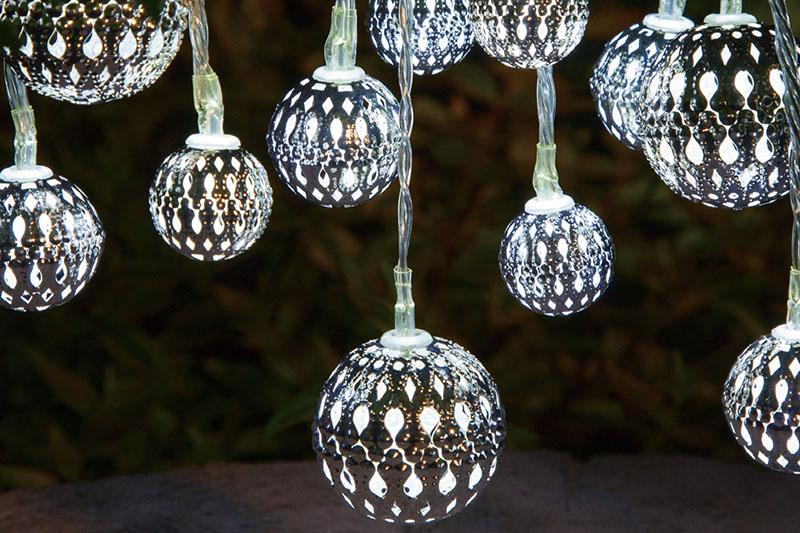 Cool White LED Metal Ball Lights
