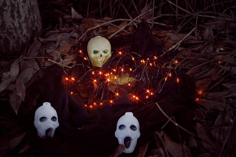 Halloween BO Orange LED Copper Light