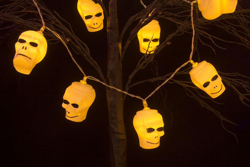 Halloween BO Skull LED Lights