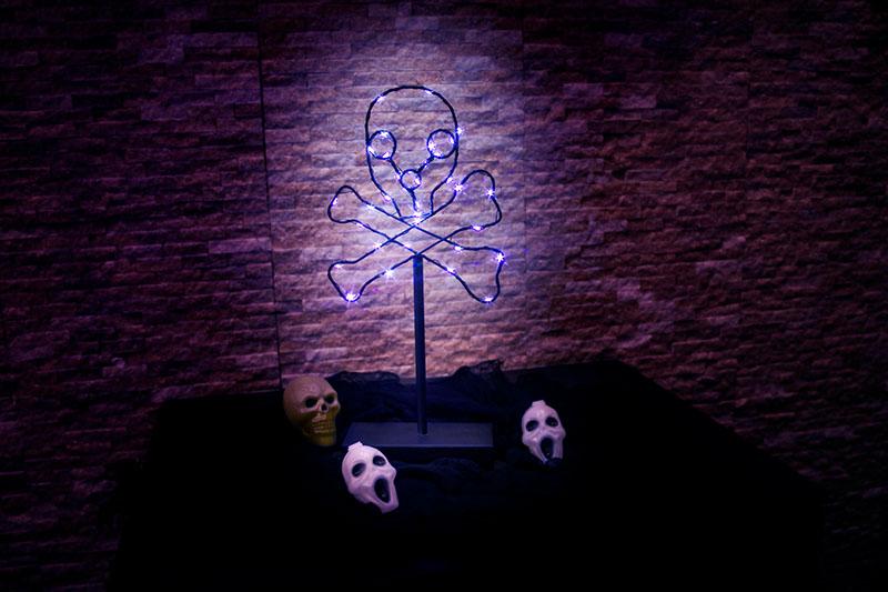 Halloween LED Metal Skull  Light