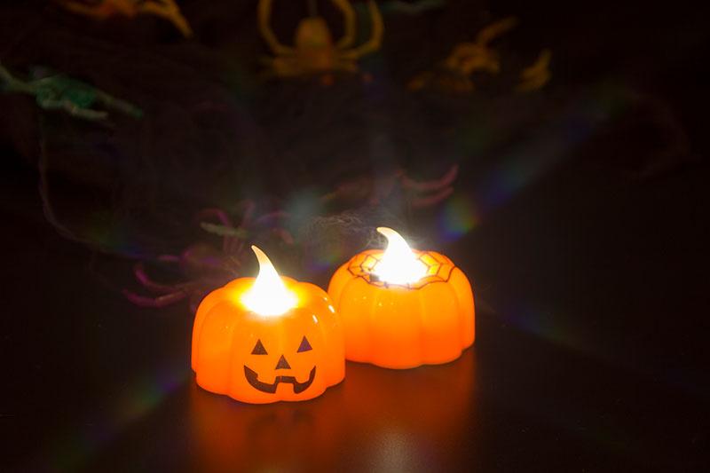 Halloween LED Pumpkin Tea Light