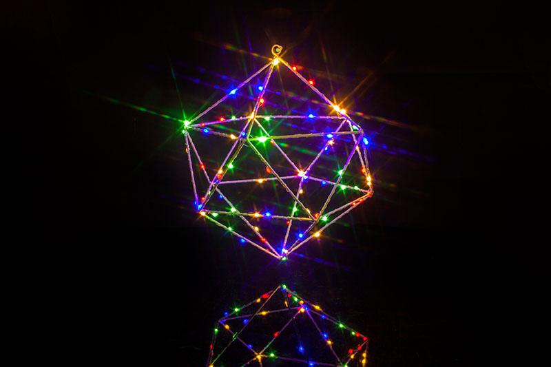 Metal Diamond With Micro  Lights