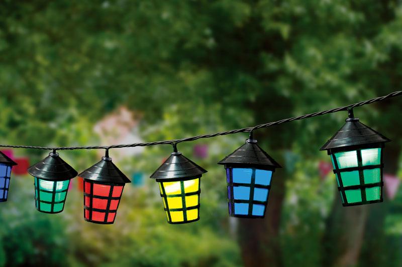 Multi Colour LED Lantern Lights