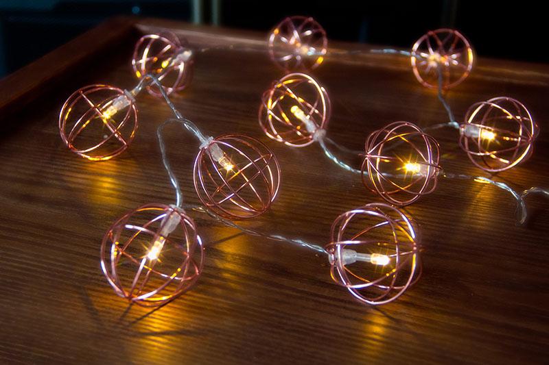 Warm White LED  Metal Ball Light