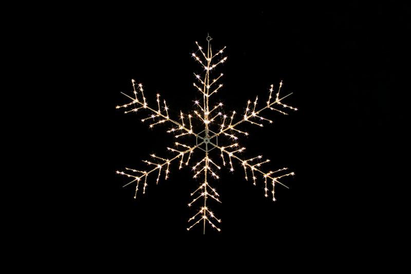 Warm White LED Metal Silhouette-Snowflake