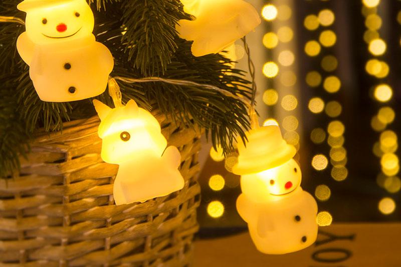 Warm White LED Snowman And Unicorn Light