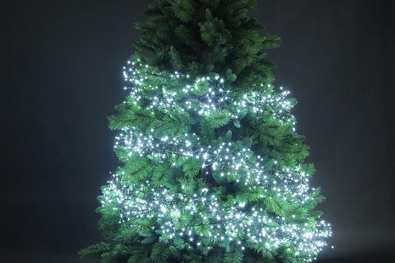 White LED Cluster Lights-8 Function