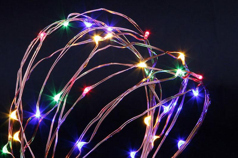 B/O MULTI COLOUR LED COPPER WIRE LIGHTS