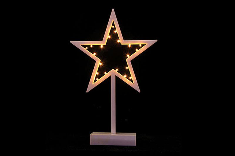 B/O 10 WARM WHITE LED PLASTIC STAR TABLE LIGHT
