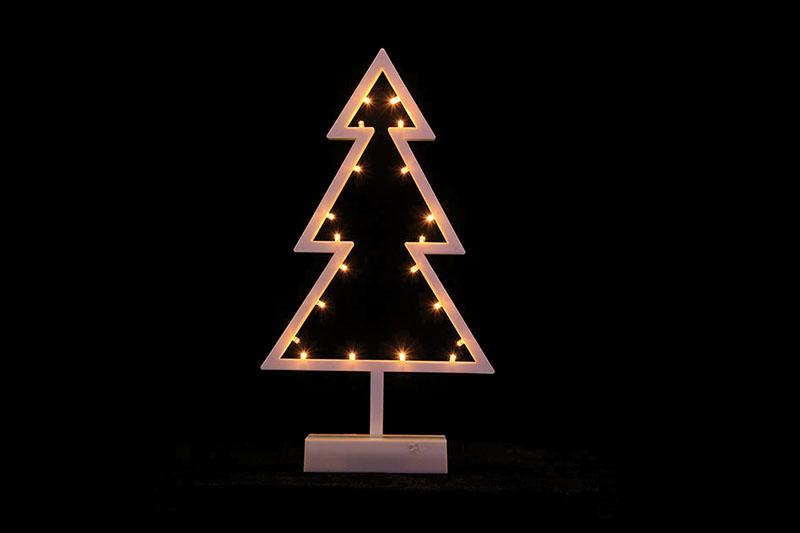 B/O 10 WARM WHITE LED PLASTIC TREE TABLE LIGHT