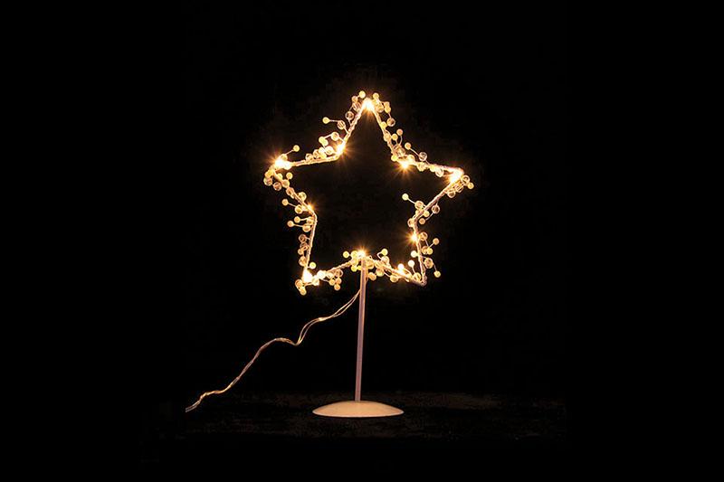 B/O 10 WARM WHITE LED METAL STAR TABLE LIGHT