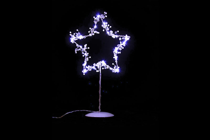 B/O 10 COOL WHITE LED METAL STAR TABLE LIGHT