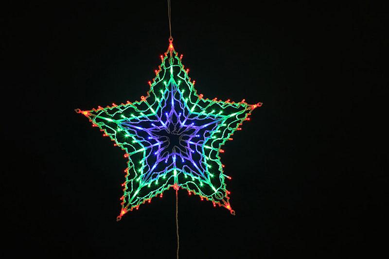 100 LED STAR SILHOUETTE LIGHTS-MULTI COLOUR