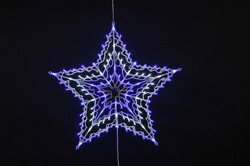 100 LED STAR SILHOUETTE LIGHTS-WHITE