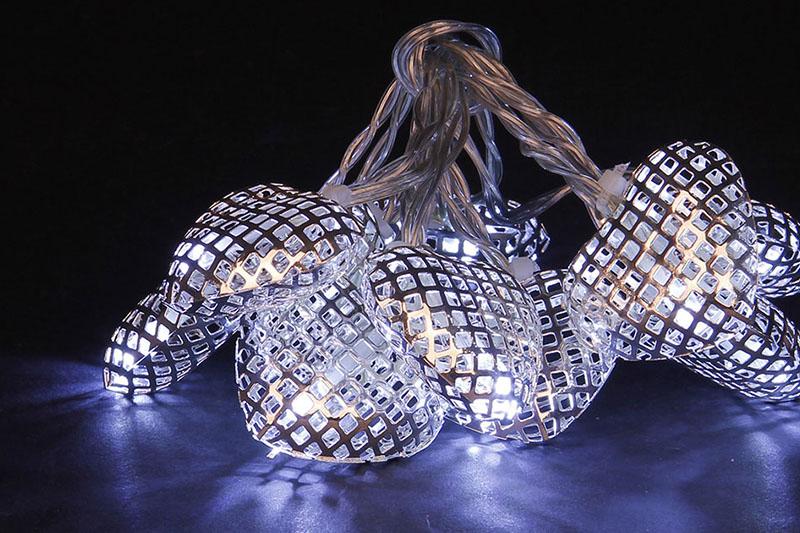 B/O 10 WARM WHITE LED METAL HEART LIGHTS