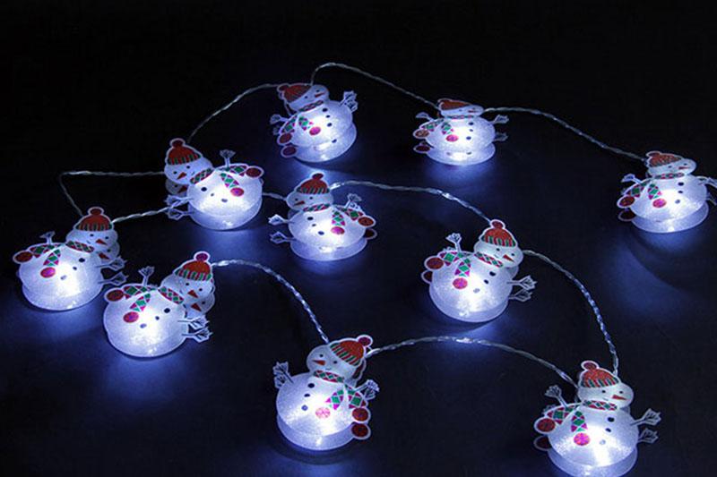 B/O 10 WHITE LED METAL SNOWMAN LIGHT