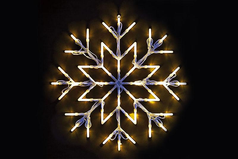 B/O 50 LED SNOWFLAKE SILHOUETTE LIGHTS-WARM WHITE